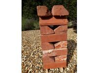Plinth Bricks, Hand-Made Suffolk Red x 16, Width 23cm; Height 7cm; Depth 11cm