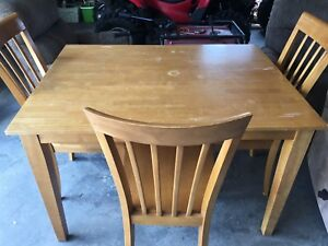 Table and 3 chairs