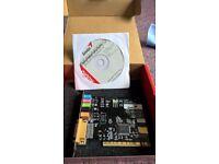 genius sm- live value 5.1 audio channel pci accelaration card