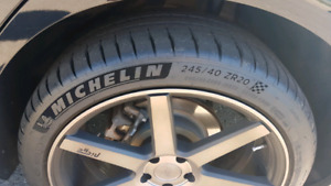 Niche wheels and tires 5x114.3 20 inch +35 offset