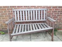 Free teak bench - needs repair