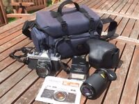 Pentax K1000 35mm SLR camera kit