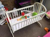 Antique Swinging Crib