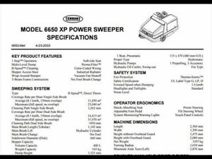 2005 TENNANT 6650 XP Sweeper
