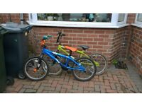 Two BMX style bikes for sale. Suit 7-9 years .£55 for both or £30 each
