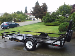 6' x 14' Heavy Duty Utility Trailer W/Back Ramp