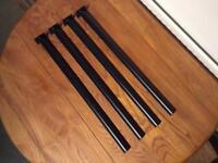4 steel table legs