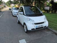 2010 DIESEL SMART CAR FORTWO 0.8CDI PASSION FREE TAX ECONOMICAL DIESEL 80MPG,SATNAV, BLUETOOTH