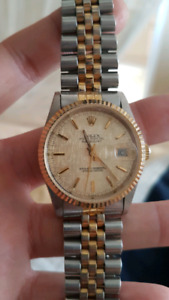 Rolex gold datejust special face