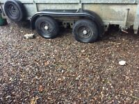 Ivor williams 12ft plant trailer