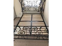Big double metal bed for sale in excellent condition