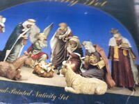 nativity set hand painted