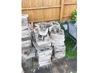Bricks and breeze blocks free to anyone who can collect and move