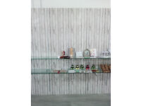 Twin slot wall shop fittings panels