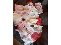 **Girl's Bundle of Newborn Baby Clothes**