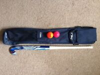 38 inch Hockey Stick with bag and 2 balls