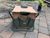 GARDENING STOOL WITH TOOL BAG - NEVER USED