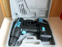 18 VOLT CORDLESS DRILL with charger, case and accessories.