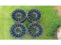 """15"""" wolf race alloy wheels"""