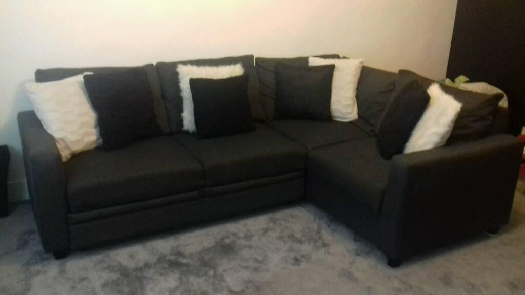 Hygena Seattle Corner Sofa Bed