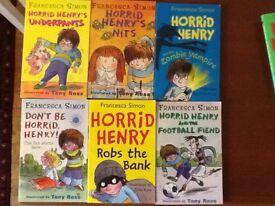 12 Horrid Henry books