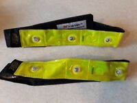 Hi vis flashing led armbands for cycling or jogging