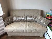 2 seater sofa bed in good condition. Easily pulls out to a double bed.