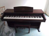 Yamaha CVP-103 Mahogany Clavinova Electric Piano w/ Weighted Keys & MIDI Connections