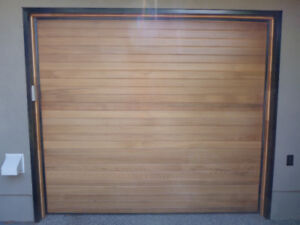 Insulated Cedar Garage Door with opener and track