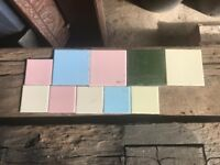 Large quantity of wall tiles
