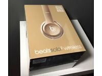 BEATS BY DR DRE SOL0 2 SPECIAL EDITION GOLD HEADPHONES BRAND NEW SEALED