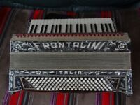 FRONTALINI ACCORDION 120 BASS 2 VOICE 1930'SEXCELLENT CONDITION WITH CASE.