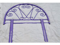 Single purple bed frame