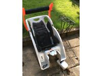 Bicycle child carrier seat + rear rack