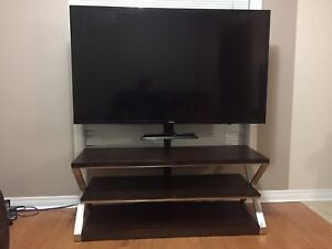 3 Shelf TV Stand - Wood and Matal Frame - Solid Built