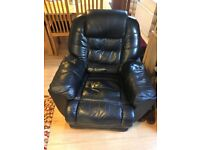 Leather Recliner Armchair in Good Condition