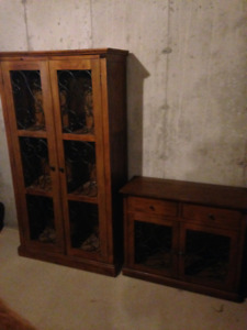 Pier 1 Cabinets (pair - large and small)