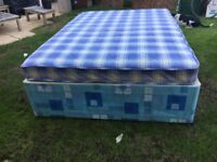 Double divan bed and mattress - £50