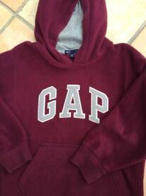 Boys GAP fleece jumper / hoodie. 6-7y