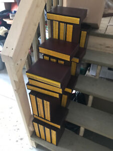 Every National Geographic Magazine from 1985-2000 in cases.