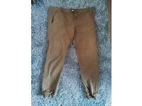 Cuffed Tan Trousers