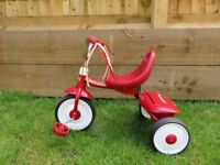 Radio Flyer Fold 2 go Trike - red - good condition