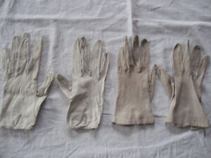 vintage white leather gloves - cool retro style