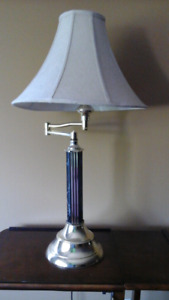 Gorgeous table lamp with swing arm - Great condition.