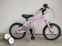 "FREE Bell with (2541) 14"" Aluminium RIDGEBACK Girls Kids Bike Bicycle+STABILISERS Age: 3-5, 95-110cm"