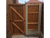Wooden gate side gate front gate