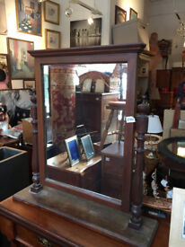 Large Mahogany Framed Dressing Table Mirror