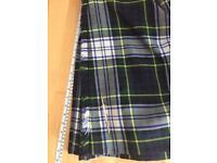 Dress Gordon kilt, kilt pin, belt, sporran, jacket and waistcoat