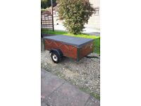 Camping Trailer 5'x3' with cover and spare wheel