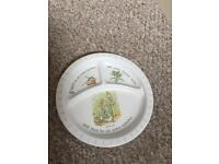 Peter rabbit child's plate